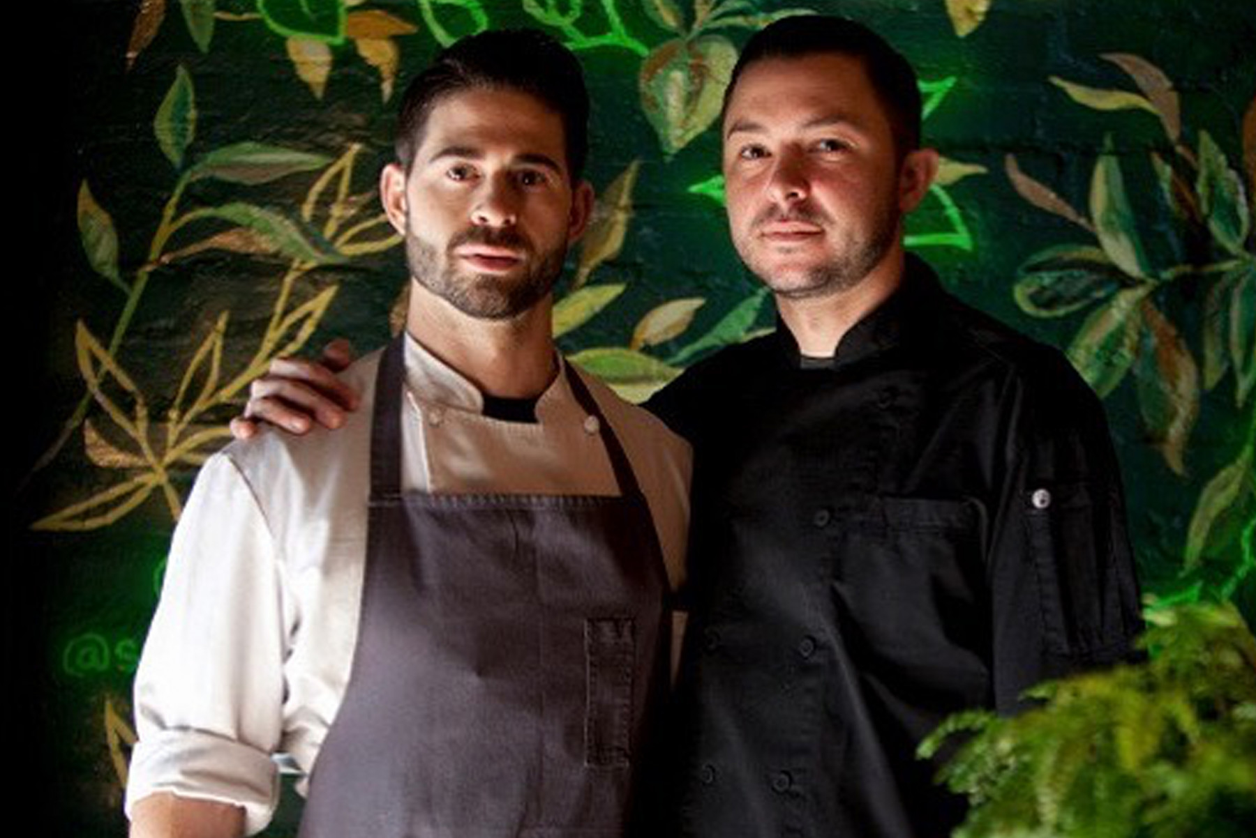 Chefs Adam Bordonaro and Ryan Lory, speakers at an NYCHG Member Event at Ardyn NYC