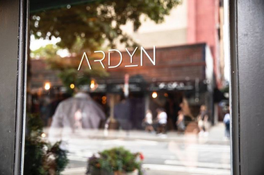 The entry of Ardyn NYC in the West Village
